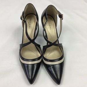 "Tahari ""Britta"" black and cream shoes"